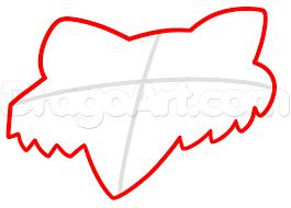 how to draw fox head logo fox racing step by step sports pop