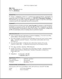 Sap Copa Resume Exciting Sap Fico Sample Resume 3 Years Experience 45 For Your