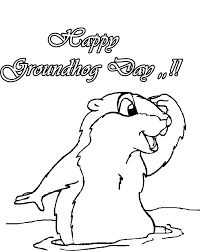 Groundhog Day Coloring Pages Draw 77 On For Adults Coloring Pages Groundhog Color Page