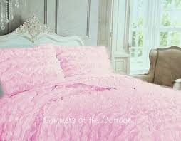 Light Pink Comforter Queen Shab Cottage Chic Bedding Twin Quilts Comforter Rag Quilt In Pink