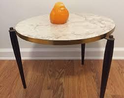 mid century modern accent table mid century table etsy
