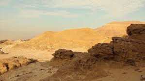 stone desert timna valley view of rocky landscape in timna park a stone desert