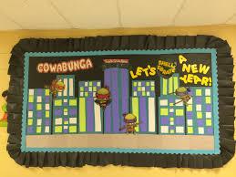 Bulletin Board Decoration For New Year back to ninja turtle bulletin board