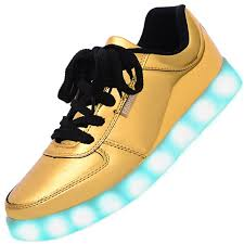 gold light up sneakers men usb charging led light up shoes flashing sneakers gold