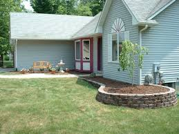 image of inexpensive landscaping ideas for small front yard on a