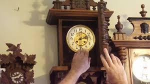 Barwick Grandfather Clock Antique German Wag On The Wall Clock Circa Late 1800s Youtube