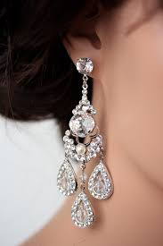 chandelier wedding earrings statement bridal earrings chandelier wedding earrings large