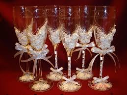 diy wedding chagne glasses wedding theme ideas wine glass