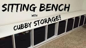 Cubby Storage Bench by Jwf Sitting Bench W Cubby Storage Youtube
