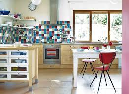 carré cuisine design interieur cuisine rétro crédence carrelage carré