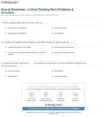 Daily Living Skills Worksheets Critical Thinking Worksheets For Kids