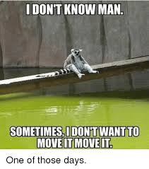 I Don T Know Man Meme - i don t know man sometimes i dont want to move it move it one of