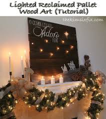 lighted reclaimed lumber christmas sign tutorial tutorials