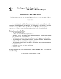 how to write a letter of recommendation for catholic confirmation
