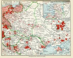 Map Central Europe by Ethnic German Population In Eastern Europe 1932 Map Europe