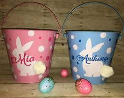 easter buckets pink easter etsy