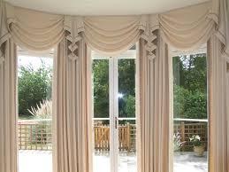 Drapery Designs For Bay Windows Ideas Swag Curtains For Living Room Large Bay Window Curtains Home