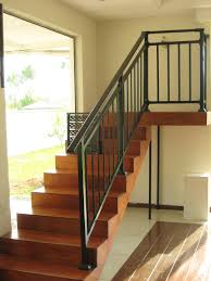 Wrought Iron Banister Rails Stair Attractive Halfturn Staircase Design Ideas With Wood And