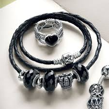 black beaded charm bracelet images The pandora filled with romance charm pandoratexas jpg
