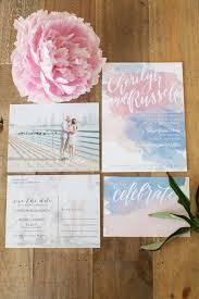 picture of quartz and serenity watercolor wedding invitation