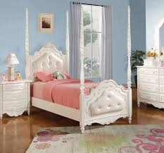 Dallas Designer Furniture Pearl Youth Bedroom Set With Post Bed - Youth bedroom furniture dallas