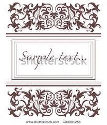 vector vintage border frame logo engraving stock vector 431628703