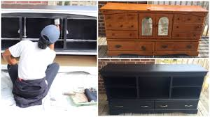 Old Furniture Makeovers Diy Entertainment Center Furniture Makeover Youtube