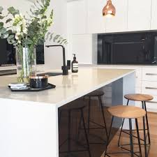 white cupboards with black benchtops kitchens pinterest