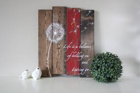 dandelion wood plaques wall wood plank is a balance pallet wall