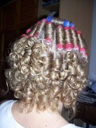 sissified permed hair hair rollers and net hair rollers and curlers pinterest