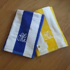 wedding gift towels mr mrs cabana stripe towel set large towel wedding