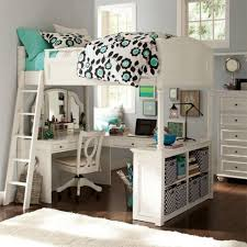 bedroom wonderful white and turquoise girls bunk bed design idea