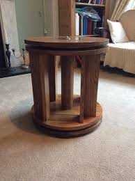 the spinning bookcase table wood and things