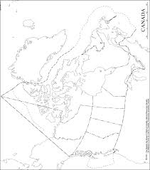 canada blank map canada outline map