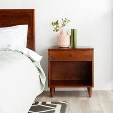 how tall are nightstands mid century nightstands u0026 bedside tables shop the best deals for