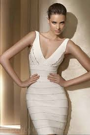 informal wedding dresses uk buy cheap v neck satin beaded bodice ivory informal