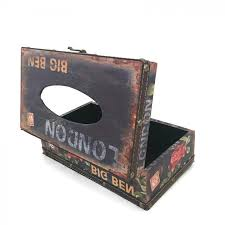 decorative tissue box toko sinyo decorative retro vintage design hinged refillable