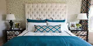 Spring Bedroom Makeover - cool teal home decor for spring and summer bedroom decoration