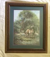 home interiors deer picture vtg home interiors deer big buck horns by crainer