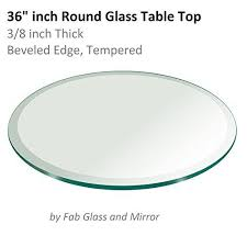 36 inch round tempered glass table top fab glass table top 36 inch round 38 inch thick beveled tempered