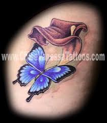 blue morpho butterfly and pink calla lily tattoo by chloe vanessa