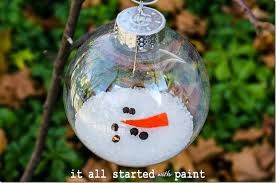 Decorating Clear Plastic Christmas Balls