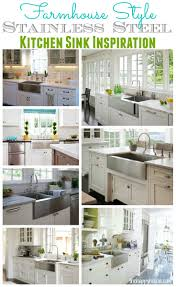 stainless steel farmhouse style kitchen sink inspiration the