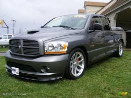 2006 mineral gray metallic dodge ram 1500 srt 10 quad cab