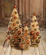 bethany lowe thanksgiving bottle brush trees set of 3 lg1703