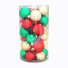 trim a home shatterproof christmas ornaments in cylinder 30 ct