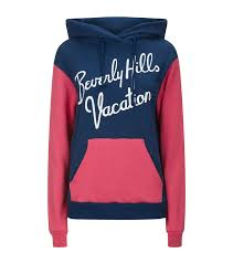 wildfox beverly vacation hoodie in blue lyst