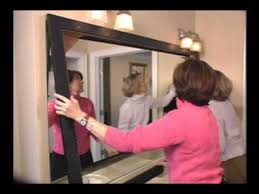 Framing An Existing Bathroom Mirror Awesome Idea Can T Wait To Spice Up Our Big Master Bath Mirror