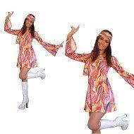 60s 70s flower power hippy retro gogo fancy dress size 2xl women