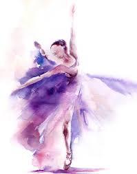watercolor landcolor skycolor u2014 ballerina watercolor painting art